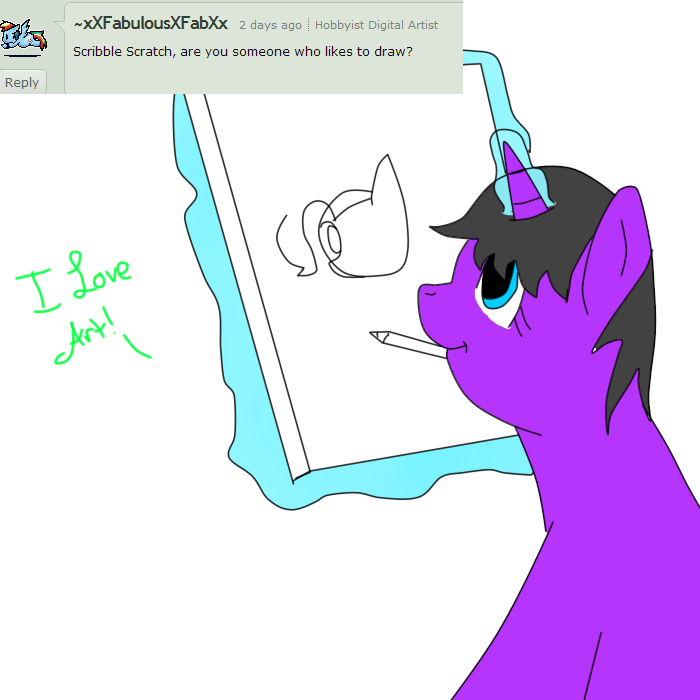 Scribble Drawing Question : Question scribble scratch by nawnii on deviantart