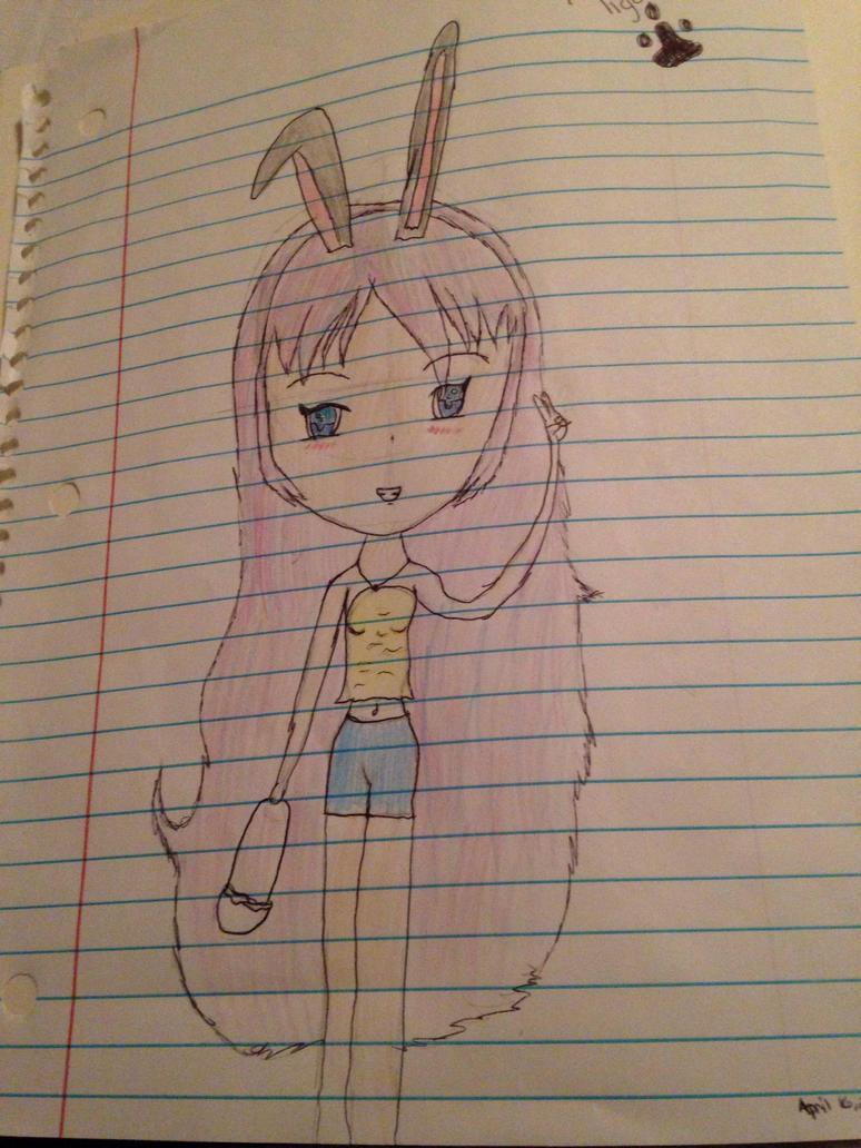 Easter Bunny Girl (Drawn in 2017) by TigerleafGem