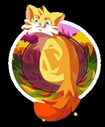 whirlwhisker, naruto as a warrior cat by bottomramen