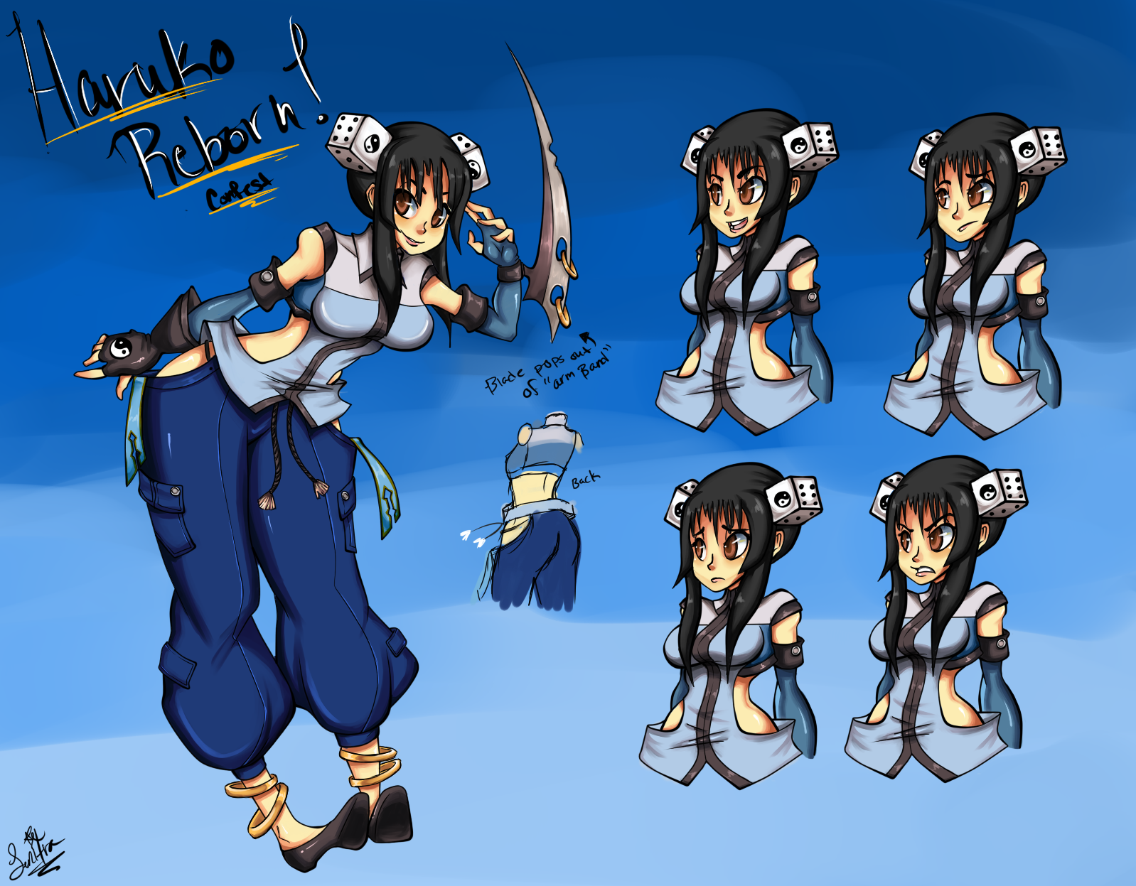 Character Design Contest 2014 : Haruko reborn contest character re design by