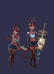 Disgaea hero lady 1 by Kimbot