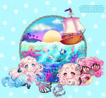 Mermaid Chibi Twins