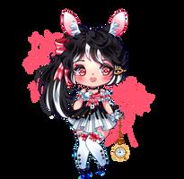 Black Bunny Chibi by Engel-und-Tod