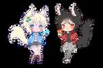 Wolf Chibi Couple WIP