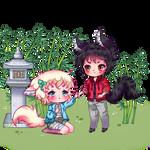 Chibi Wolf Couple