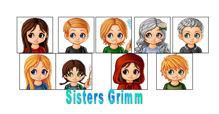 The Sisters Grimm Family by FayetheFaerie