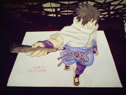 Sasuke 3d drawing by tzaris