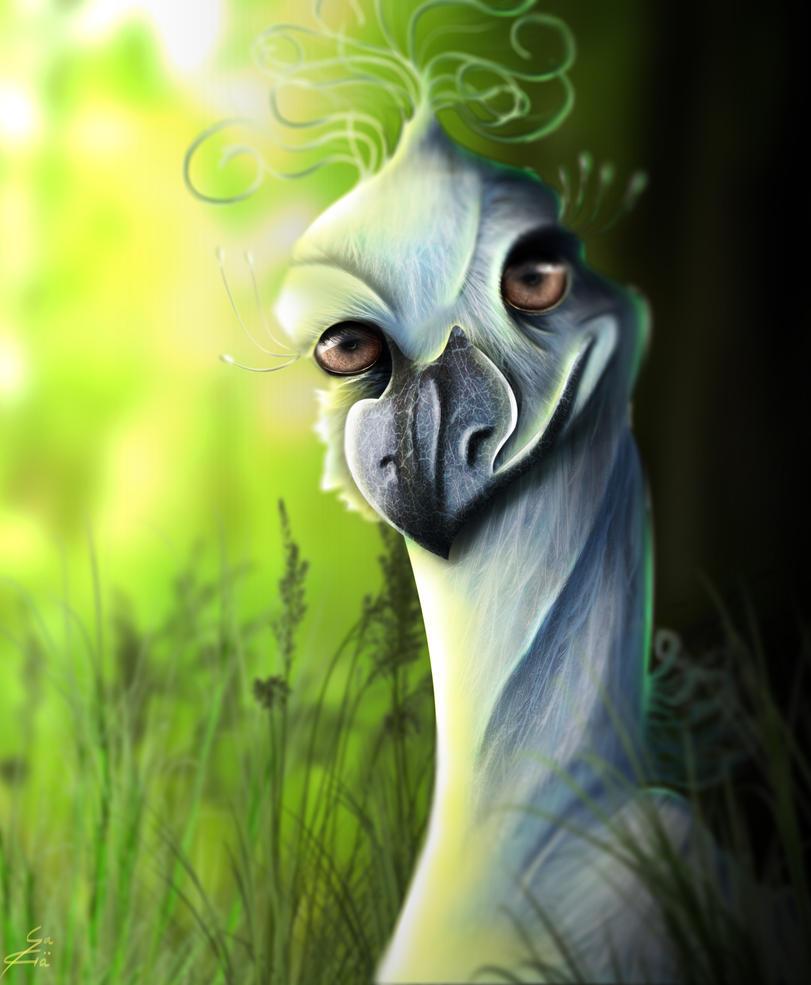 Digital ostrich by Miyu-Maneki