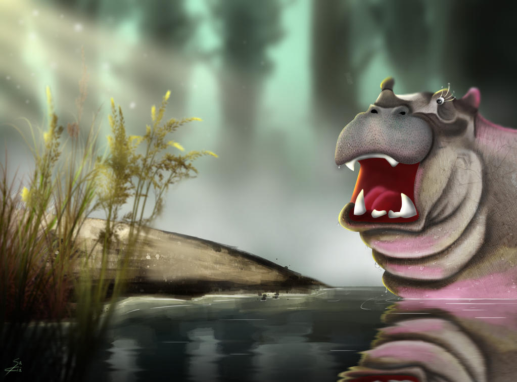 Hippopotamus by Miyu-Maneki