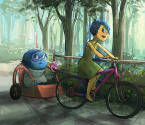 Joy x Sadness: bikeride by catharticaagh