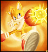 'Arm Cannon!'- TAILS Speedpaint (Sonic) by rio-is-ok
