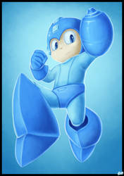 'The Blue Bomber'- MEGAMAN Speedpaint (Megaman) by rio-is-ok
