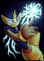 'Thunder Beam'- ELEC MAN Speedpaint (Megaman) by rio-is-ok