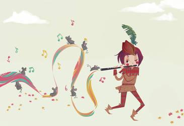 el flautista by TakPinkSpider