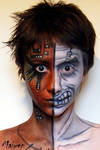 Half face_face painting