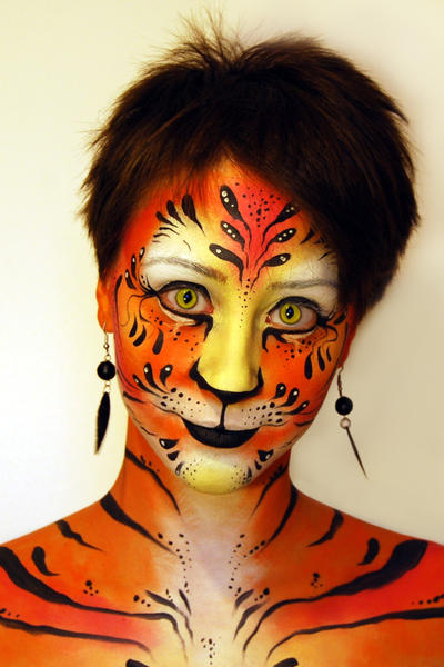 Tiger_face painting by Maiwen