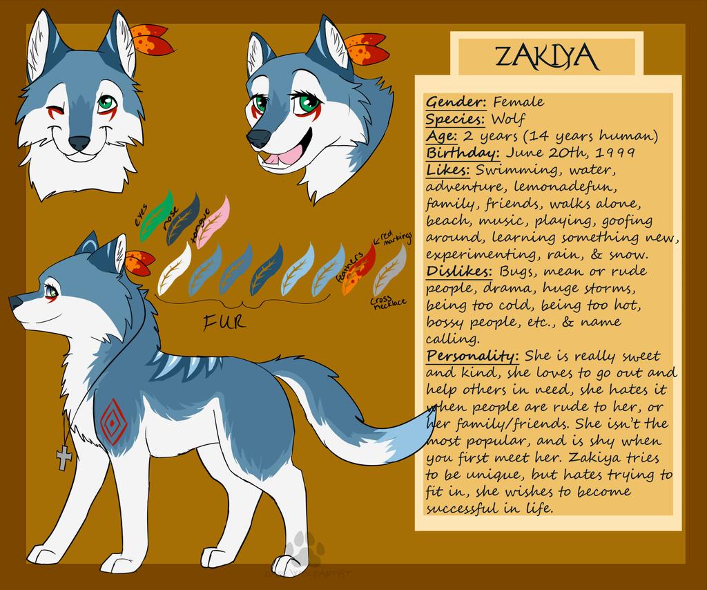 Zakiya 2013 Reference by DarkWolfArtist
