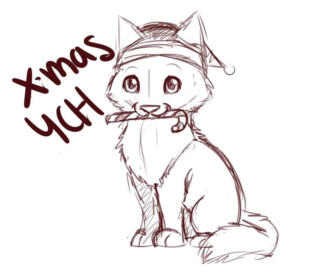 Christmas- Chibi YCH- OPEN by DarkWolfArtist