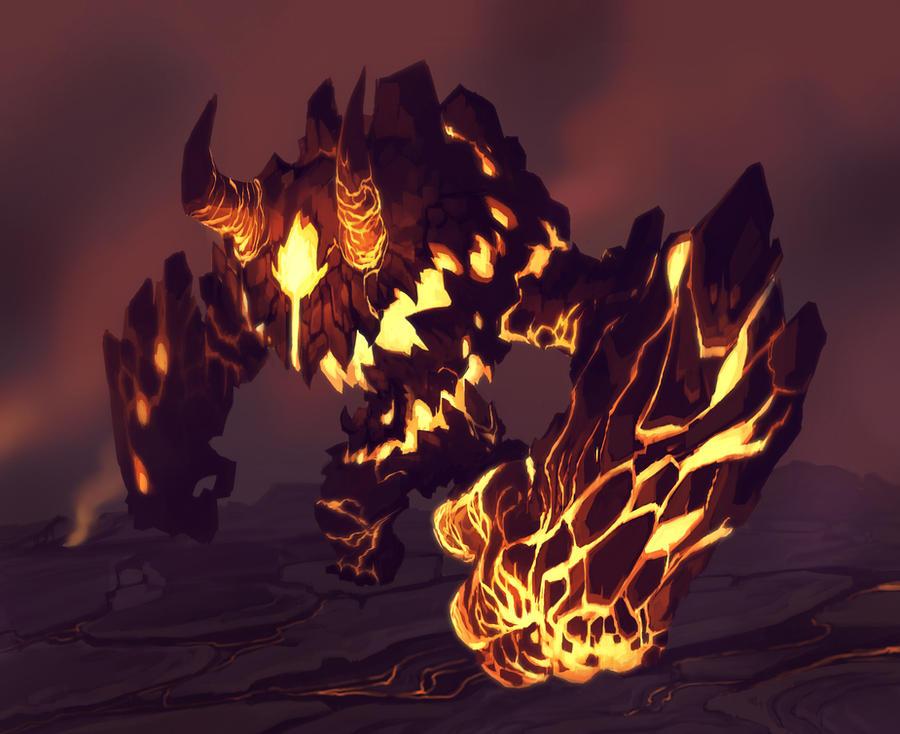 Magma Golem by ThranTantra