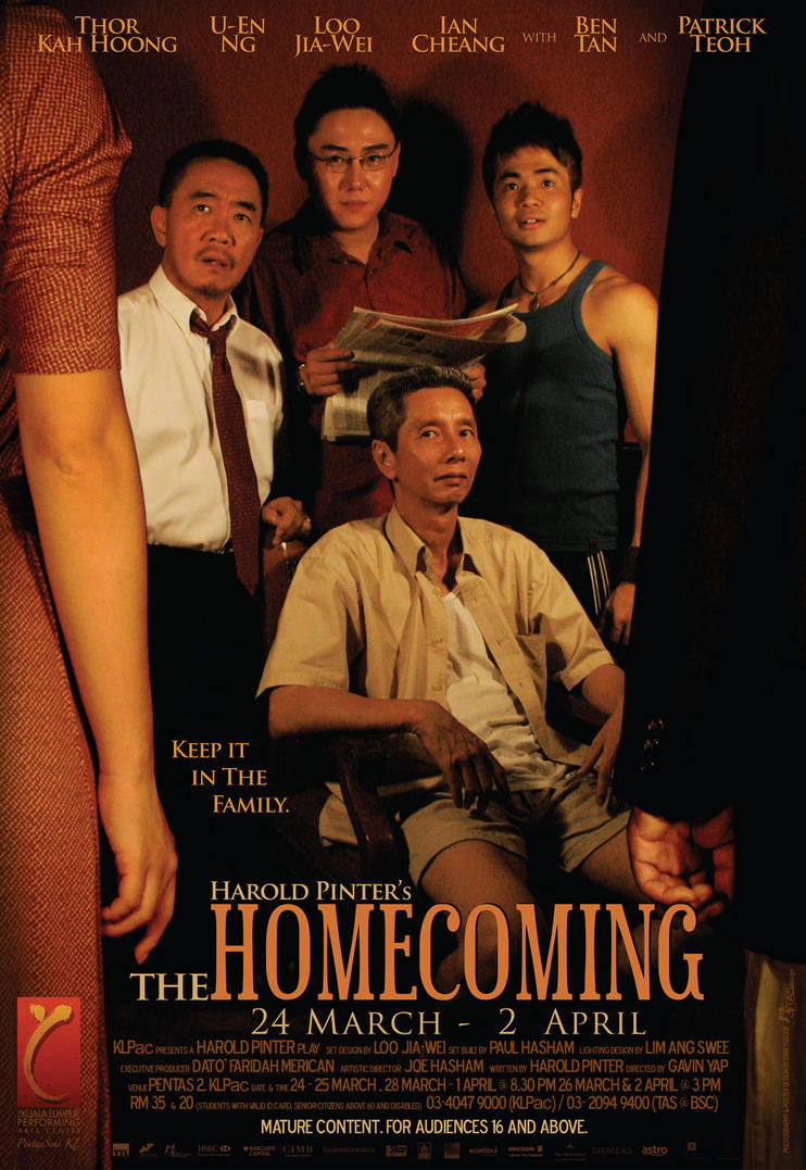 an analysis of the homecoming by harold pinter Home essays homecoming analysis  harold pinter uses his theatre of absurd writing style to demonstrate part of his life story through two of his plays,.