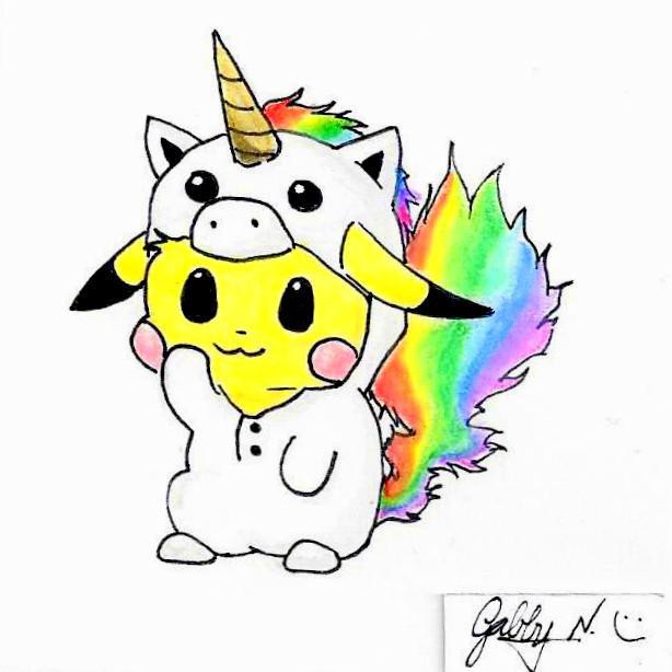 Unicorn Pikachu Doodle By Gabby Gator