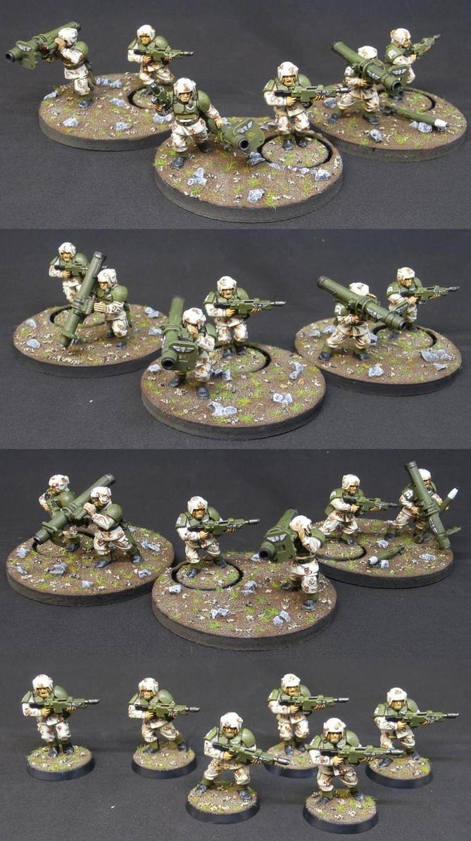 Astra Militarum Missile teams by Elmo9141