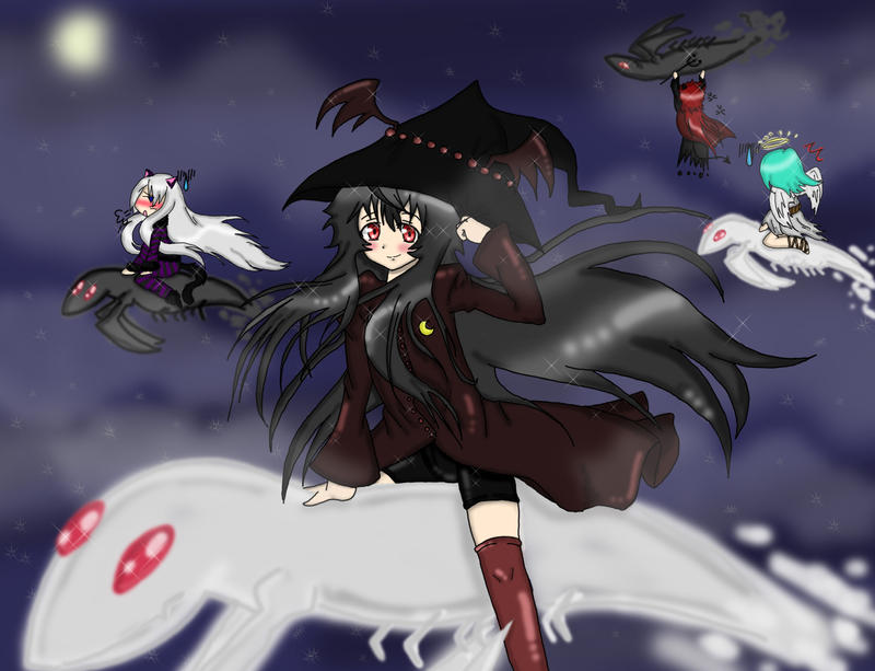 Monochrome Factor Halloween by Majikaru-Rin