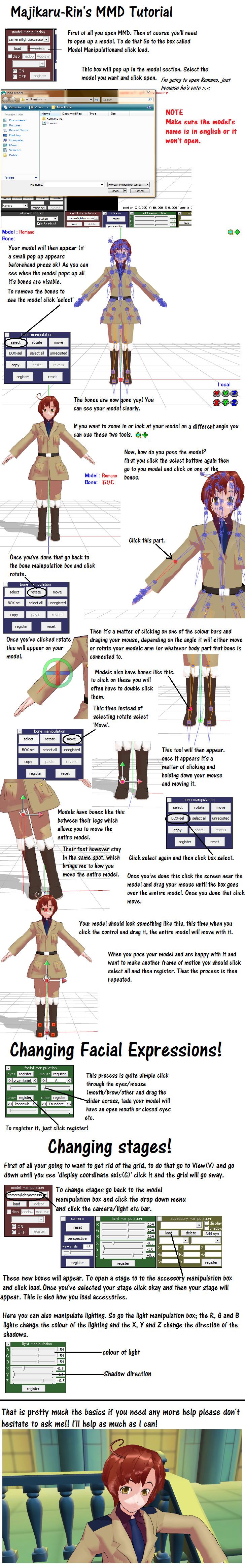 How To Use MMD - The Basics by Majikaru-Rin