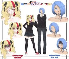 KnB OCs: Kohaku Amaya + Ishikawa Hasaki by Majikaru-Rin