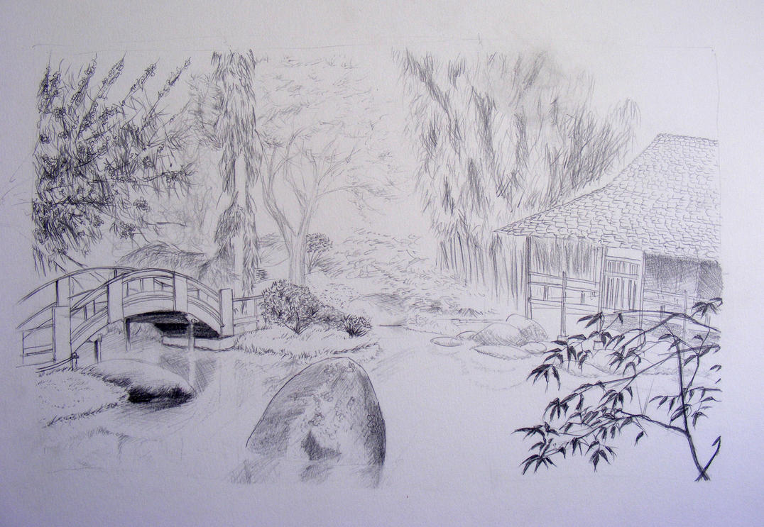 Jardin japonais by soho van rylic on deviantart for Dessiner un jardin