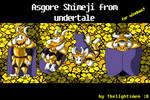 Asgore Shimeji from Undertale