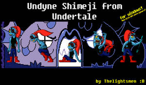 Undyne Shimeji from Undertale by Thelightsmen