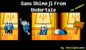 Sans Shimeji from Undertale