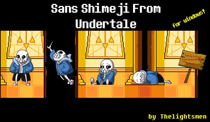 Sans Shimeji from Undertale