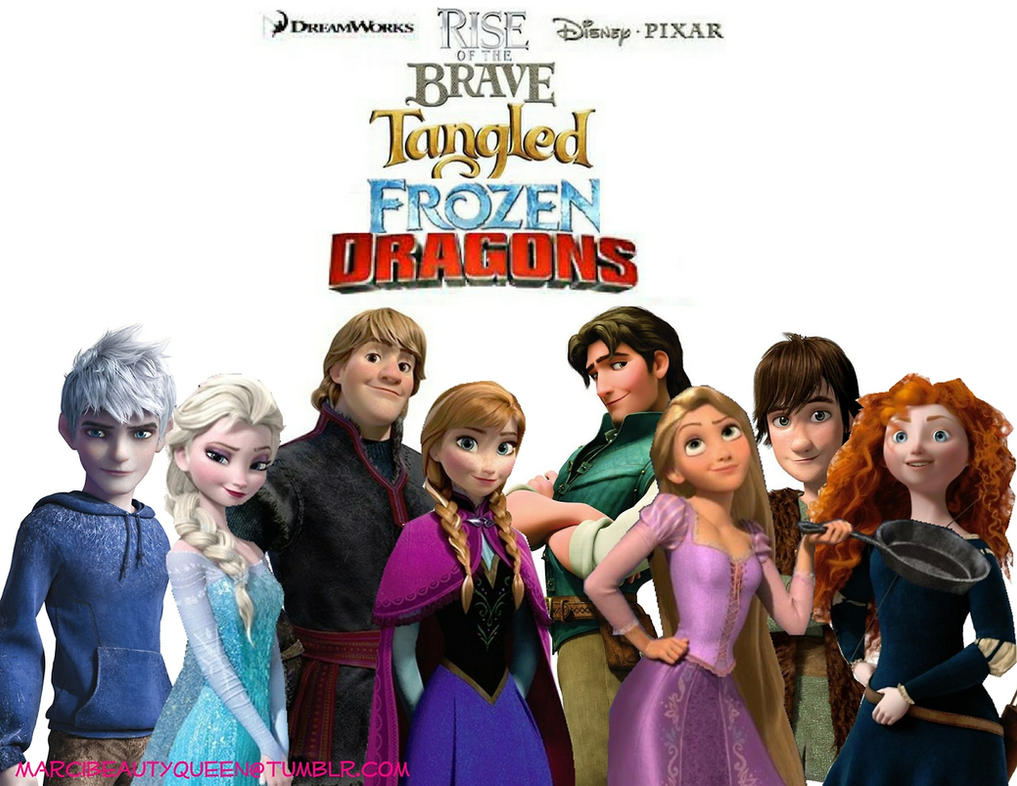 Rise Of The Brave Tangled Frozen Dragons by barbara1999Frozen Tangled Brave