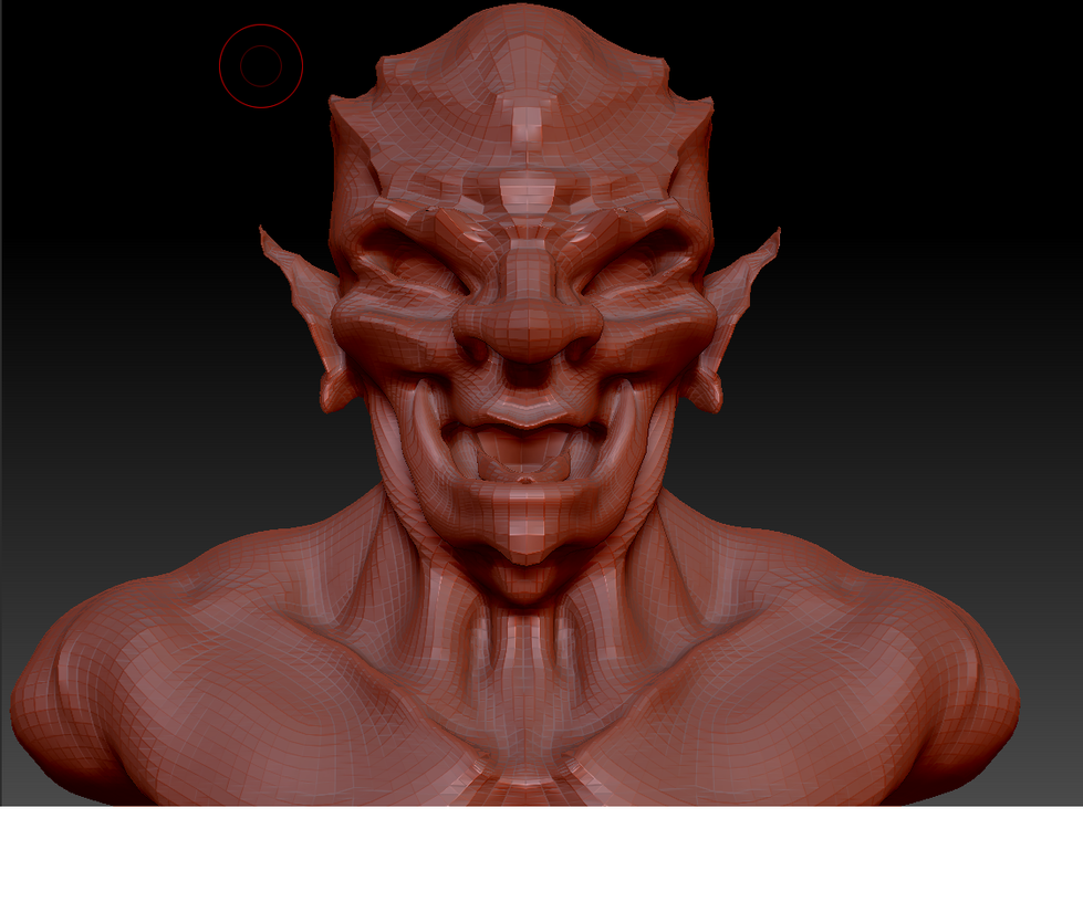 Orc Bust - Zbrush by GamerBiscuit