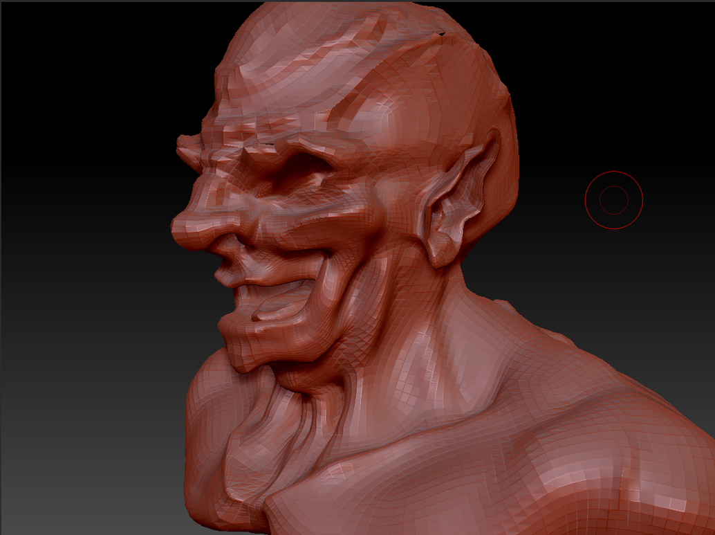 Orc Head 3/4 View - Zbrush by GamerBiscuit