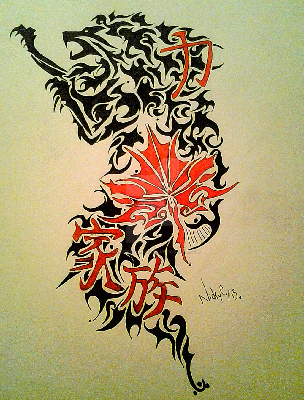 tribal tattoo design request by kickintribalrocker on deviantart. Black Bedroom Furniture Sets. Home Design Ideas