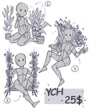 Flowery YCHs! Three slots still available :3