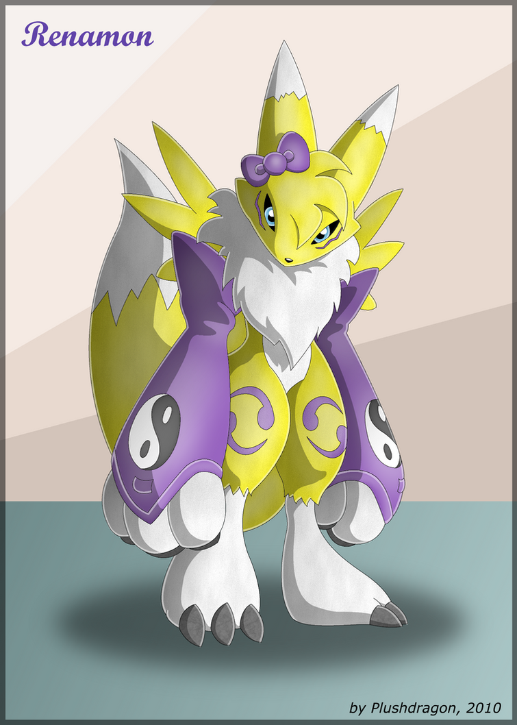 Young Renamon by plushdragon