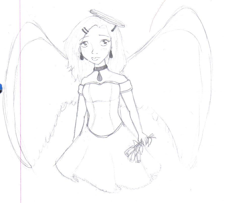 Sad Angel Sketches Sad Angel Sketch by