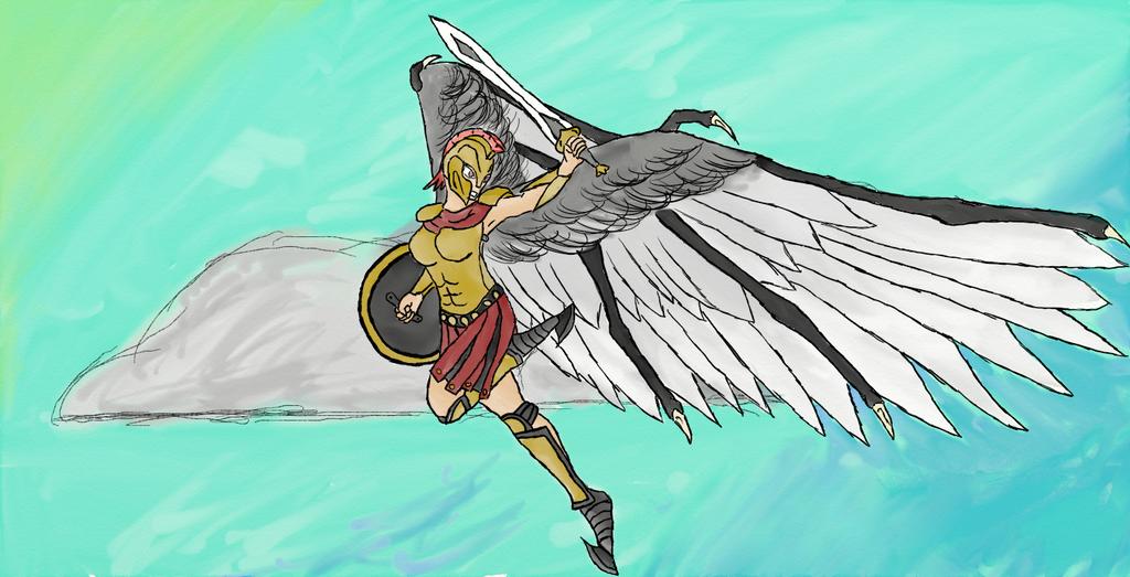 The Goddess of victory Nike!!! by DrogarMythos