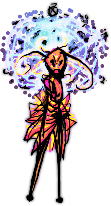 A SPACE BEE DW MANIFESTATION IN A DRESS by Praeclaro
