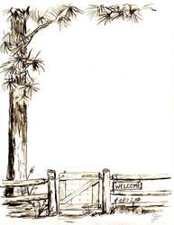 Treeand gate by sailormephitis