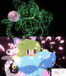 Raku-chan in 3-D!