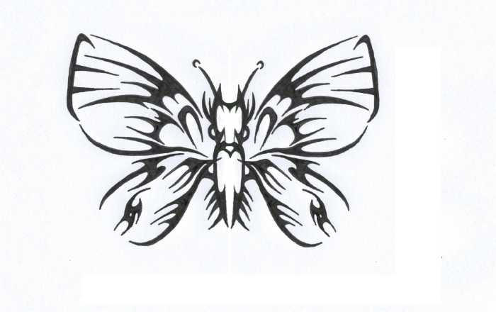 Gothic Butterfly How to draw Gothic But...