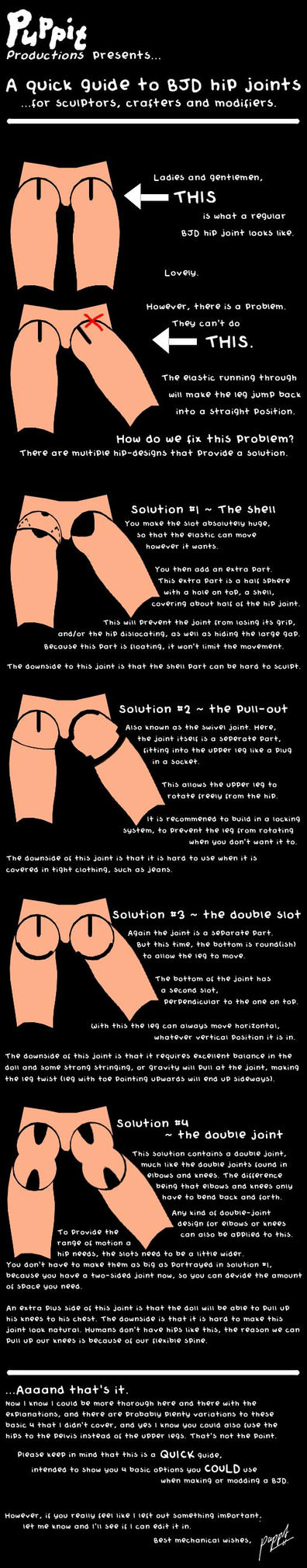 A quick guide to BJD hip joints by PuppitProductions