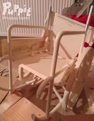 BJD wheelchair WIP: seating patterns by PuppitProductions