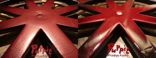 BJD wheelchair WIP: Pure paint vs varnish by PuppitProductions