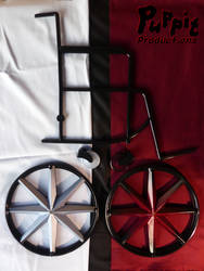 BJD wheelchair WIP: Contrast vs gradient colourway by PuppitProductions